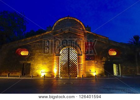 Nicosia, Cyprus, December 15, 2015: The Famagusta Gate in the ancient city wall in Nicosia, Cyprius