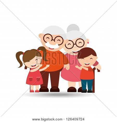 happy grandparents design, vector illustration eps10 graphic