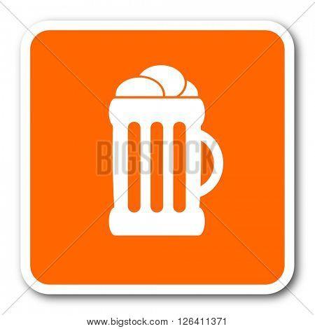 beer orange flat design modern web icon