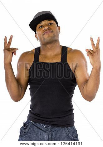 Hip Hop Musician or Fitness Trainer with microphone tattoo