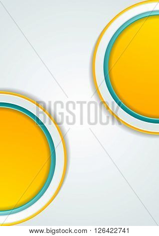 Abstract tech geometric corporate background. Vector graphic template design