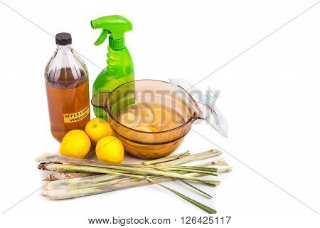 Apple Cider Vinegar, Lemon,  Lemongrass Effective Insect Repellent Home Formula