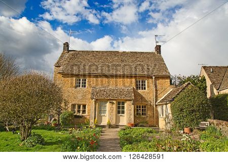 """Ancient village """"Upper Slaughter"""" in the Cotswolds region"""