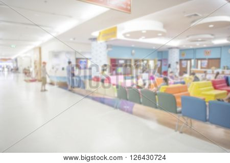 Out Of Focus Of The Nurses Station In A Hospital For Background Use.