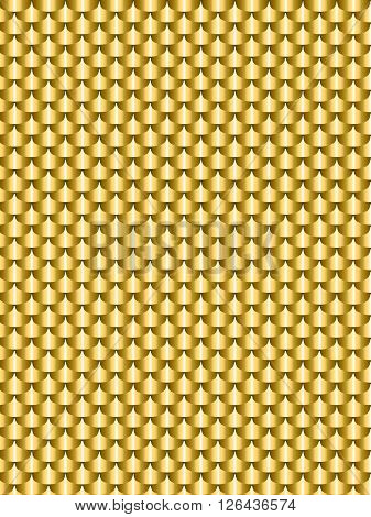 Brushed metal gold flake texture seamless. Vector illustration