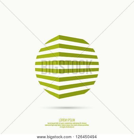 3d logo in  form of  abstract geometric circle figures. for media, mobile, public groups, alliances, environmental, mutual aid associations and other social welfare agencies.