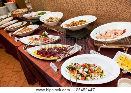 Asian And Western Buffet Food