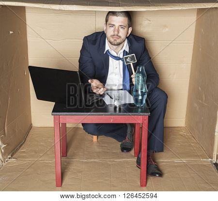 Businessman Ribs Minor