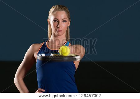 Beautiful Female Tennis Player