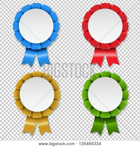 Rosette Set, Illustration, Isolated on Transparent Background