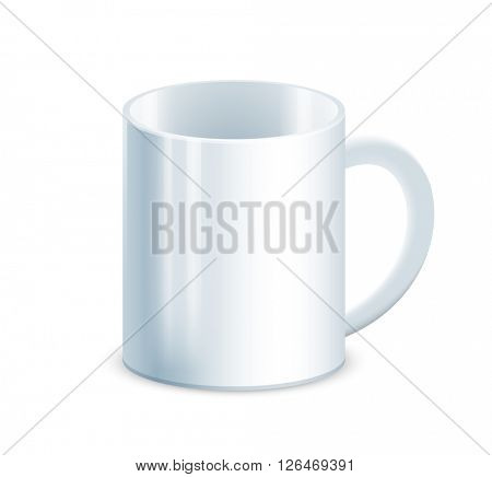 Tea cup on white background. Vector Illustration