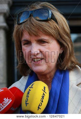 Labour spokesperson for finance Joan Bruton arriving at Dail Eireann