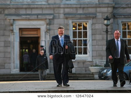 Deputy James O'Rielly Fine Gael arriving at Dail Eireann
