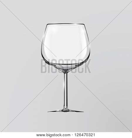 Realistic vector illustration of a wine glass. Wine glass. Clip art - wine glass.
