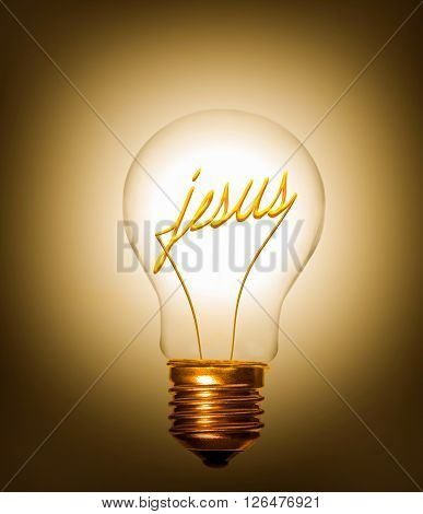 the idea of jesus providing light as a lightbulb