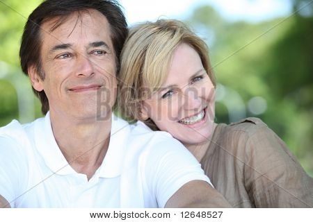 Portrait of a senior man and a senior woman