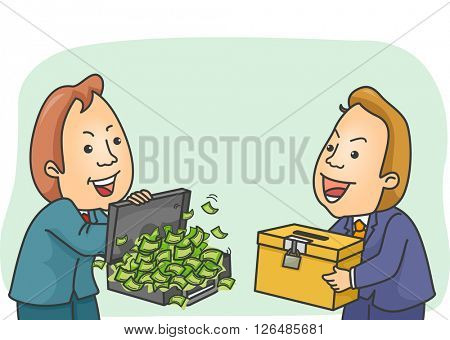 Illustration of a Shady Man Buying a Ballot Box