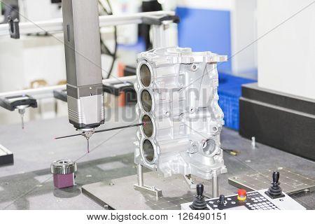 inspection automotive part dimension by CMM measuring machine