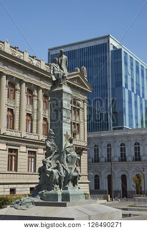 The Palacio de los Tribunales de Justicia de Santiago. Historic building in Santiago, Chile housing the Supreme Court of Chile.