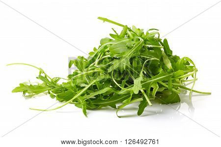 Fresh Green Arugula On White Background