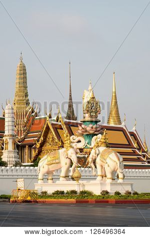 Temple of the Emerald Buddha or Wat phra keaw is the tourist destination in BangkokThailand.