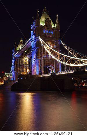 Tower bridge nightfall