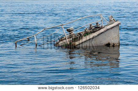 Ship Wreck In A River