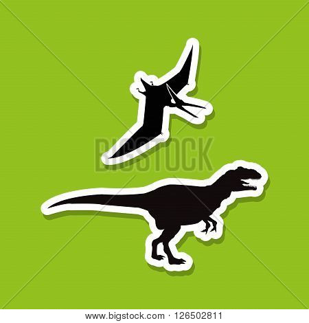 dinosaur concept with icon design, vector illustration 10 eps graphic.