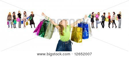 """small girl consumerism dream - See similar images of this """"Groups of people"""" series in my portfolio"""