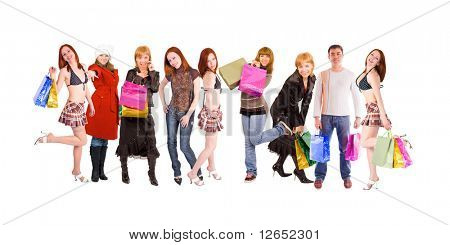 "shopping people line - See similar images of this ""Groups of people"" series in my portfolio"