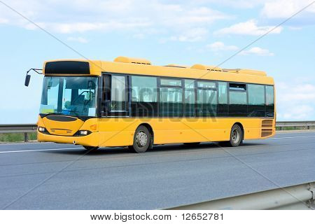 """public transport - yellow bus  - See similar images of this """"Business vehicles"""" series in my portfolio"""