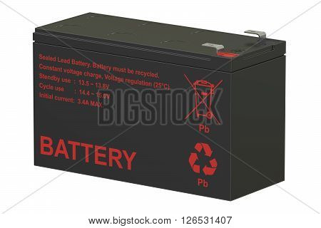 Sealed UPS batteries 3D rendering isolated on white background