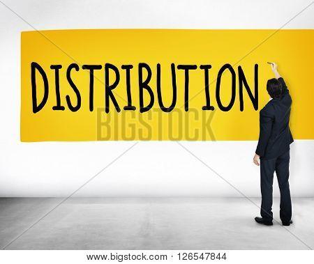 Distribution Sale Marketing Distributor Strategy Concept