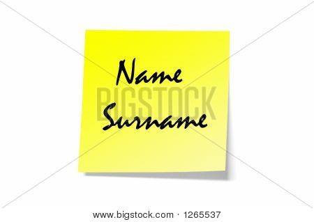 Name And Surname