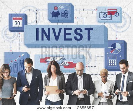 Invest Investment Financial Budget Costs Concept poster