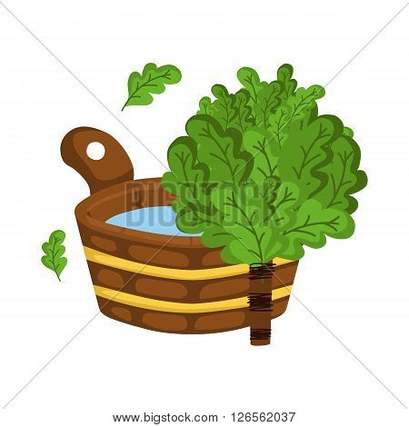 Vector illustration with sauna objects. Cartoon sauna background. Hotel sauna background for card concept. Spa or healthcare sauna background. Relaxation wellness therapy sauna vector illustration