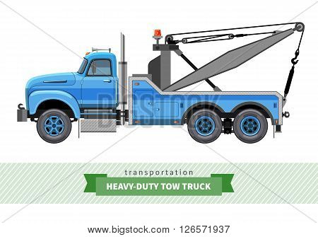 Classic Heavy Duty Tow Truck Side View