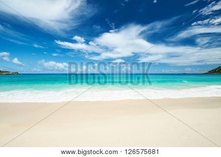 Beautiful beach Anse Intendance at Seychelles, Mahe