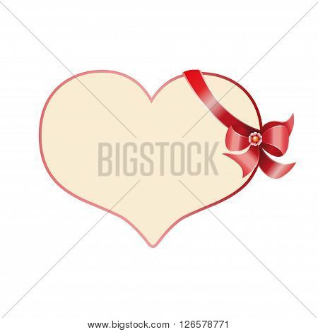 Valentines day card concept with presents or gifts and hearts flying out.