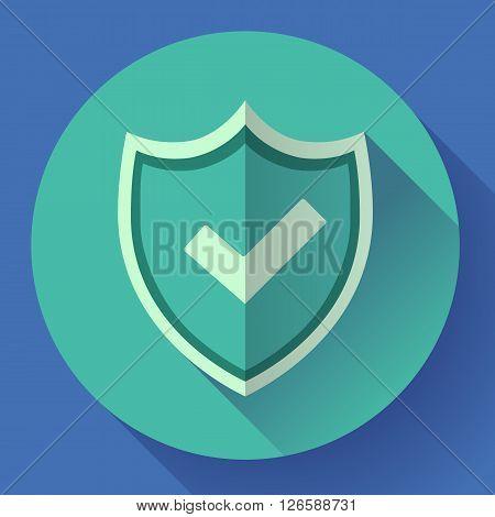 shield icon - protection symbol. Flat design style