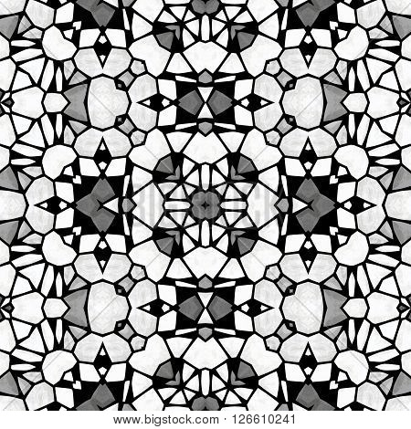 Abstract kaleidoscopic structure - anti-stress coloring book