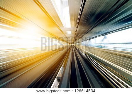 Speed Motion in railway tunnel
