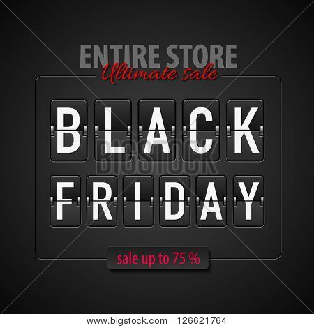 Black Friday discounts increasing consumer growth. Entire store and ultimate sale
