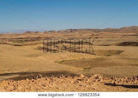 The Ramon Crater or Makhtesh Ramon, nature reserve in Negev desert, Israel