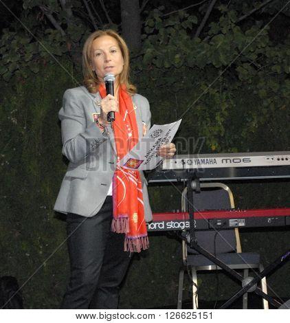 ANKARA/TURKEY-SEPTEMBER 26, 2014: Ankara Koru Rotary Club Chairman Zeynep Akinci at the British Embassy Ankara during the