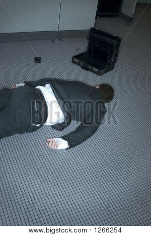 Businessman On The Ground