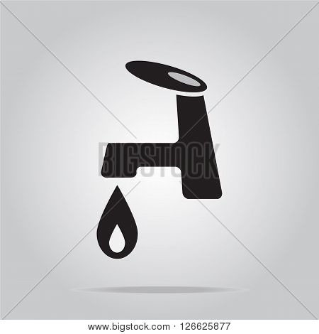 Faucet icon sign black color vector illustration