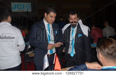 ANKARA/TURKEY-SEPTEMBER 12, 2015: JCI (Junior Chamber International) members at ATO Congresium Hall for the General Assembly of JCI Turkey 2015. September 12, 2015-Ankara/Turkey