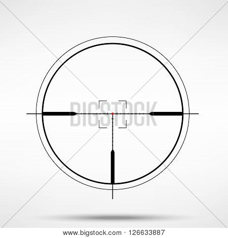 Vector illustration simple sniper crosshair reticle. Crosshair vector icon.