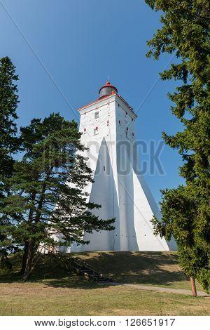 Ancient lighthouse in Kopu, island of Hiiumaa, Estonia.